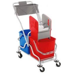 Wózek 2x25l z koszykiem